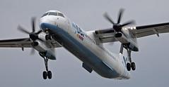 Cutting a Dash (crusader752) Tags: flybe bombardier dash8 dhc8 q400 gjecl london heathrowairport 27r shortfinals