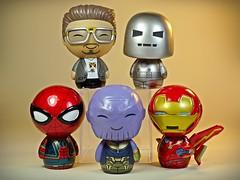 Funko – Dorbz – Marvellous Tiny Guys – Close Up (My Toy Museum) Tags: funko dorbz marvel marvellous stark tony iron man spiderman thanos avengers