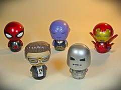 Funko – Dorbz – Marvellous Tiny Guys – Front (My Toy Museum) Tags: funko dorbz marvel marvellous stark tony iron man spiderman thanos avengers