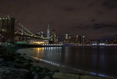 La magia delle luci sul ponte di Brooklyn (nicolazanin1) Tags: newyork usa vacanza viaggio night lights bridge brooklynbridge brooklyn magic street streetphotography