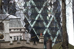 Old and modern in the City of London (Ian Press Photography) Tags: building buildings architecture london city sky scraper skyscraper tower office offices block 30 st mary axe gherkin erotic swiss re