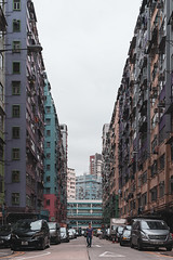 Tai Kok Tsui, HK (mikemikecat) Tags: tai kok tsui old buildings one person motor vehicle car city architecture building exterior mode transportation built structure land street residential district life outdoors road incidental people apartment mikemikecat