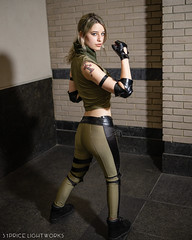 Sonya Blade (S1Price Lightworks) Tags: sonya blade mortal kombat cosplay cosplayer girl inked model tattoo fighter video game awesomecon comic con canon usa photography 35mm beauty modeling stance
