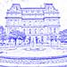 Hotel De Ville & Place Vauquelin (drawing filter)