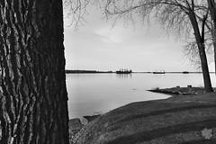 Parc De La Pointe Aux Pins (Sylvain Ritchot) Tags: boat blackwhite bw fujifilm landscape xpro1 xf27mmf28