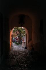 A New Day In Lisbon (romanboed) Tags: leica m 240 summilux 50 europe portugal lisbon alfama city cityscape old town urban lisboa lisabon 里斯本 리스본 リスボン лиссабон لشبونة street sunrise passage woman cobblestones