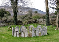 circletrees (Shannon O'Haire) Tags: ballyvaughn church churches clare druidstones graveyardphotography graveyards cemeteries religiousstatues religiousinstitutions cross paganireland circlegrave memorials burren ireland eire waw wildatlanticway