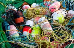 Fishermen's gear, Nova Scotia (klauslang99) Tags: klauslang fishermens gear marine ocean fisheries nets buoys composition nova scotia