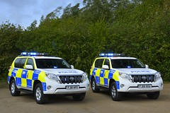 Toyota Land Cruisers (S11 AUN) Tags: derbyshire police toyota land cruiser d4d 4x4 anpr traffic car roads policing unit rpu motor patrols 999 emergency vehicle fj66bxa fj16hpx