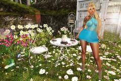 TEA FOR TWO (Rachel Swallows) Tags: aphroditeshop patio garden decor home landscape eat drink sexyprincess dress fashion sanaraeevent anybodyevent