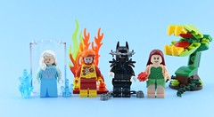 Dc minifigs #29 : New parts from Disney ! (Alex THELEGOFAN) Tags: lego legography minifigure minifigures minifig minifigurine minifigs minifigurines super heroes villain villains dc comics freeze nora firestorm batman who laughs poison ivy figbarf