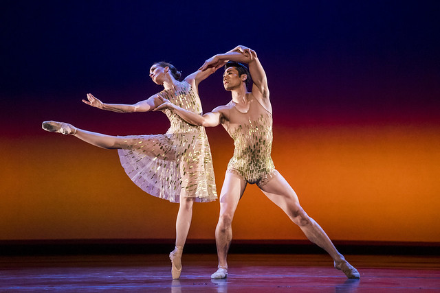 Lauren Cuthbertson and Ryoichi Hirano in Within the Golden Hour, The Royal Ballet © 2019 ROH. Photograph by Tristram Kenton