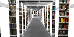 Ghost Library (DDM Imaging) Tags: bwandcolor library books color colors colour colours camera photoshop abstract ghost