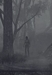 """Nowhere"" (L1netty) Tags: theevilwithin tangogameworks bethesdasoftworks bethesda pc game reshade screenshot virtual digital 4k character julikidman kidman woman female people forest mist trees monochrome outdoor pcgaming videogame"