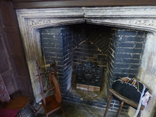 Canons Ashby House - Servants' Hall - fireplace