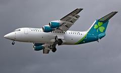 EI-RJI - British Aerospace Avro RJ85 - LCY (Seán Noel O'Connell) Tags: aerlingus eirji britishaerospace avro rj85 bae146 londoncityairport lcy eglc ei288 ein28h dub eidw aviation avgeek aviationphotography planespotting