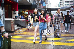 Street Style (人間觀察) Tags: 28mm f14 7artisans 7artisans28mmf14 七工匠 leica leicam hong kong street photography people candid city stranger public space walking off finder road travelling trip travel 人 陌生人 街拍 asia girls girl woman 香港 wide open