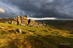 By Hook or by Crook (http://www.richardfoxphotography.com) Tags: hookneytor tor dartmoor dartmoorlandscape dartmoornationalpark storm stormclouds sidelight sky moorland