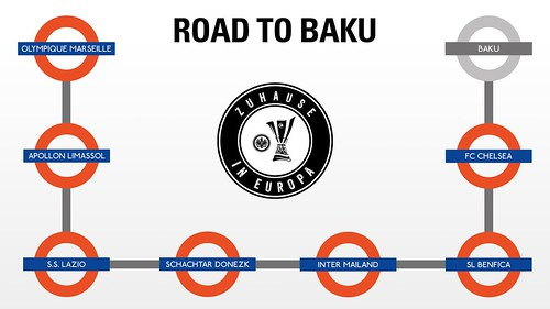 Eintracht Frankfurt - Europa League semi-final 2nd leg v Chelsea - Road to Baku