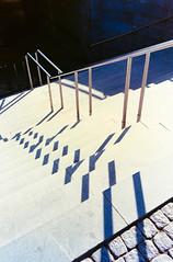Metro Stairs (JamieDieu) Tags: nikon fa 400 35mm f25 ultramax series e architecture