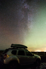 Our rental car under the Milky Way and some northern lights in Iceland (lingtotheyang) Tags: sky nightsky nightphotography stars milkyway northernlights longexposure landscape iceland astronomy astrophotography