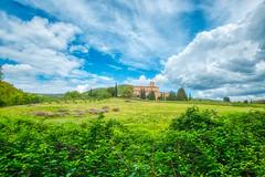 abbazia (lotti roberto) Tags: toscana tuscany abbey abbazia xpro2 sky clouds blue green italy italia valdorcia siena siepi landscape santantimo