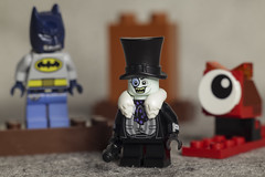Whenever Penguin is in Gotham, he's closely watched (DayBreak.Images) Tags: tabletop toys lego minifigures batman penguin canoneosm mirrorless rokkor58mmf14 extensiontube ringlight lightroom home
