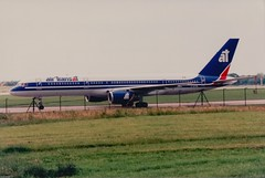 air transat Boeing 757-28A C-GTSN (alex kerr photography) Tags: boeing 757200 airtransat canada manchesterairport egcc avgeek airport