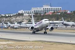 DSC_9176Pwm (T.O. Images) Tags: caribbean airlines boeing 737 737800 sxm st maarten princess juliana airport kingston jamaica kin
