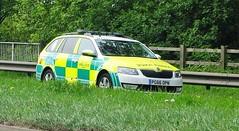North West Ambulance Service NHT Skoda Octavia Est Rapid Response vehicle PG66 OPN (sab89) Tags: north west ambulance service nht skoda octavia est rapid response vehicle pg66 opn