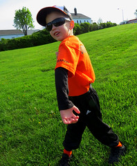 IMG_9066 (kennethkonica) Tags: kids children family face canonpowershot canon indianapolis indiana indy midwest usa america hoosier random mood people person color eyes atmosphere pose green grass sunglasses cap orange colorful game uniform fun hand