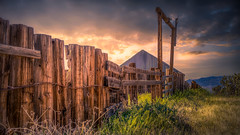 Valley View Ranch (emiliopasqualephotography) Tags: sky clouds storm ranch fence barn desert