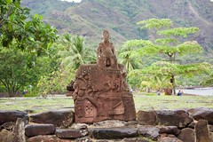 Tiki 3 in Nuku Hiva (jjknitis) Tags: 2019 cruise eurodam hollandamerica island march30 marquesas nukuhiva polynesia southpacific statue taiohae tiki