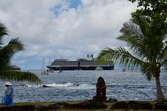 Eurodam in Nuku Hiva (jjknitis) Tags: 2019 cruise eurodam hollandamerica island march30 marquesas nukuhiva polynesia southpacific view