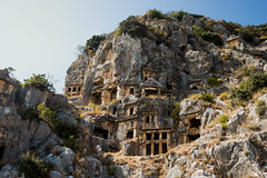 Myra Rock Tombs- (Andrew Panshin) Tags: ancient ancientcity antikkenti canon canon5dmark3 lycian ruins travel turkey myra demre rocktombs tombs lycianruins canon24105