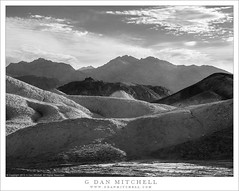 Desert Hills And Mountains (G Dan Mitchell) Tags: blackandwhite monochromedeathvalley national park mountains green twenty mule team canyon eroded forms desert sky clouds nature landscape travel wash california usa north america