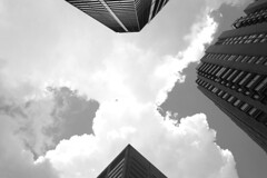 A sea of clouds (streetravioli) Tags: street photography chicago buildings clouds sky contrast
