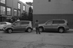 Not gonna fit in there (streetravioli) Tags: street photography chicago chinatown kia soul parking