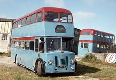 Currian Road Tours ( Stoneman and Brown ) . Nanpean , Cornwall . LRN62 . Nanpean Garage , Cornwall . August-1976 . (AndrewHA's) Tags: nanpean cornwall bus coach currian road tours stoneman leyland pd3 burlingham lrn62 second hand scout 21 preston ribble 1974 lancashire