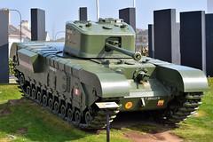 MK7 Churchill Heavy Tank in Carrickfergus, April 2019 (nathanlawrence785) Tags: car vehicle ni northern ireland cars tank carrickfergus antrim show rally classic vintage churchill jaguar e type ww2 bonnet green red