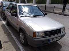1992 Volkswagen Polo GT Coupe (FromKG) Tags: volkswagen vw polo gt coupe silver car kragujevac serbia 2019