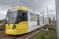 Metrolink 3081 (Mike McNiven) Tags: manchester metroink tram metro lightrail lrv advert advertisement wrap vinyl ikea ashton ashtonunderlyne deansgate eccles deansgatecastlefield