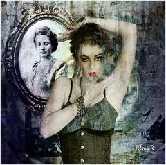 REMY AUDE CADRE  V1 (REMYRO) Tags: light color cool design clean calm glamour concept illustration elegance art style femme beauty beauté surréaliste couleur lumière miroir ambiance théatre