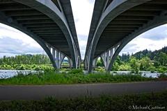 Bridge Symmetry (Michael Guttman) Tags: willametteriver eugene springfield oregon interstate5 i5 bridge symmetry hikingtrail bikingtrail trail outside