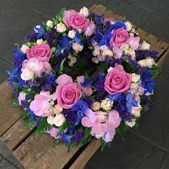 A wonderful pink and purple funeral wreath with striking pinks and blue delphiniums.  . . #parsleyandsageflorist #stokeontrentflorist #delphiniums #bluedelphinium #hydrangealove #hydrangea #hydrangeaflower #rose #roses #flower_beauties_ #flowers #flowerst (parsleyandsage11) Tags: flowers flowerstagram shoplocal bluedelphinium flowerdaily florals flowergram supportsmallbusiness hydrangea flowerbeauties flowerssuperpics parsleyandsageflorist hydrangealove hydrangeaflower rose flowerperfection delphiniums roses stokeontrentflorist