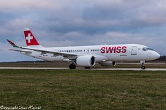 Swiss HB-JCI (U. Heinze) Tags: aircraft airlines airways airplane planespotting plane flugzeug haj hannoverlangenhagenairporthaj eddv nikon d610 nikon28300mm