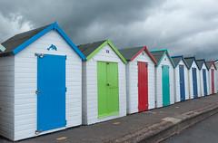 Strandhütten Paignton, Devon, UK  Juni 2016