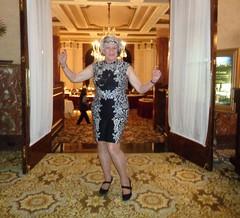 Welcome To My Little Dining Spot (Laurette Victoria) Tags: hotel milwaukee lobby pfisterhotel dress woman laurette silver