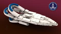 LEGO Orville (Paulygons) Tags: spaceship science fiction lego moc starship orville seth macfarlane paulygon micro mini show custom