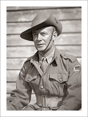 Portraits (Glass Box) 109-17 - Australian Soldier - Melbourne - WW2 (Steve Given) Tags: familyhistory socialhistory portrait soldier victoria melbourne ww2 worldwarii uniform